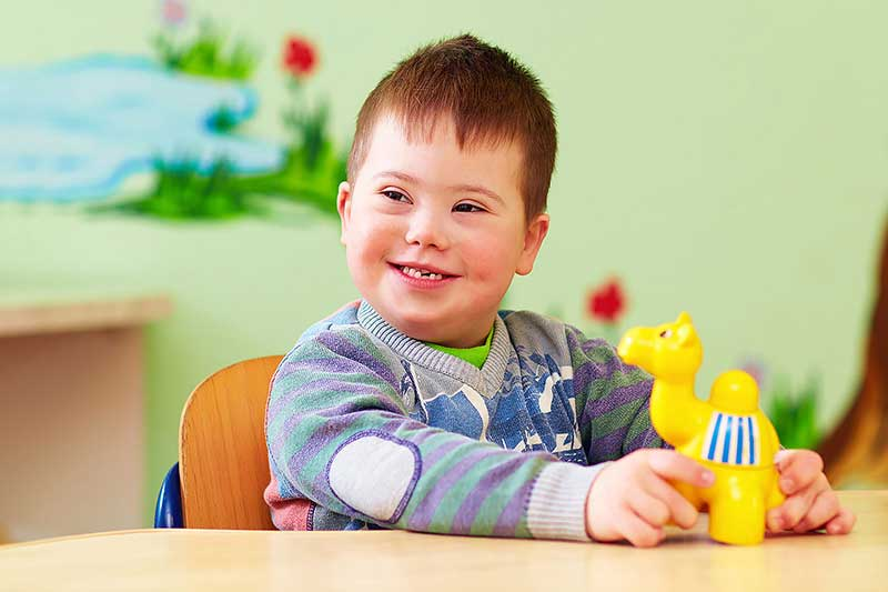 A-child-Suffering-Down-syndrome